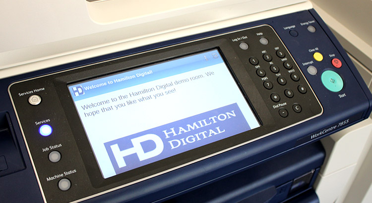 Hamilton Digital Printer Screen